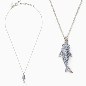Kate Spade Cali Dreaming Shark Pave Necklace